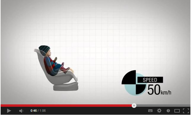 rear facing car seat video