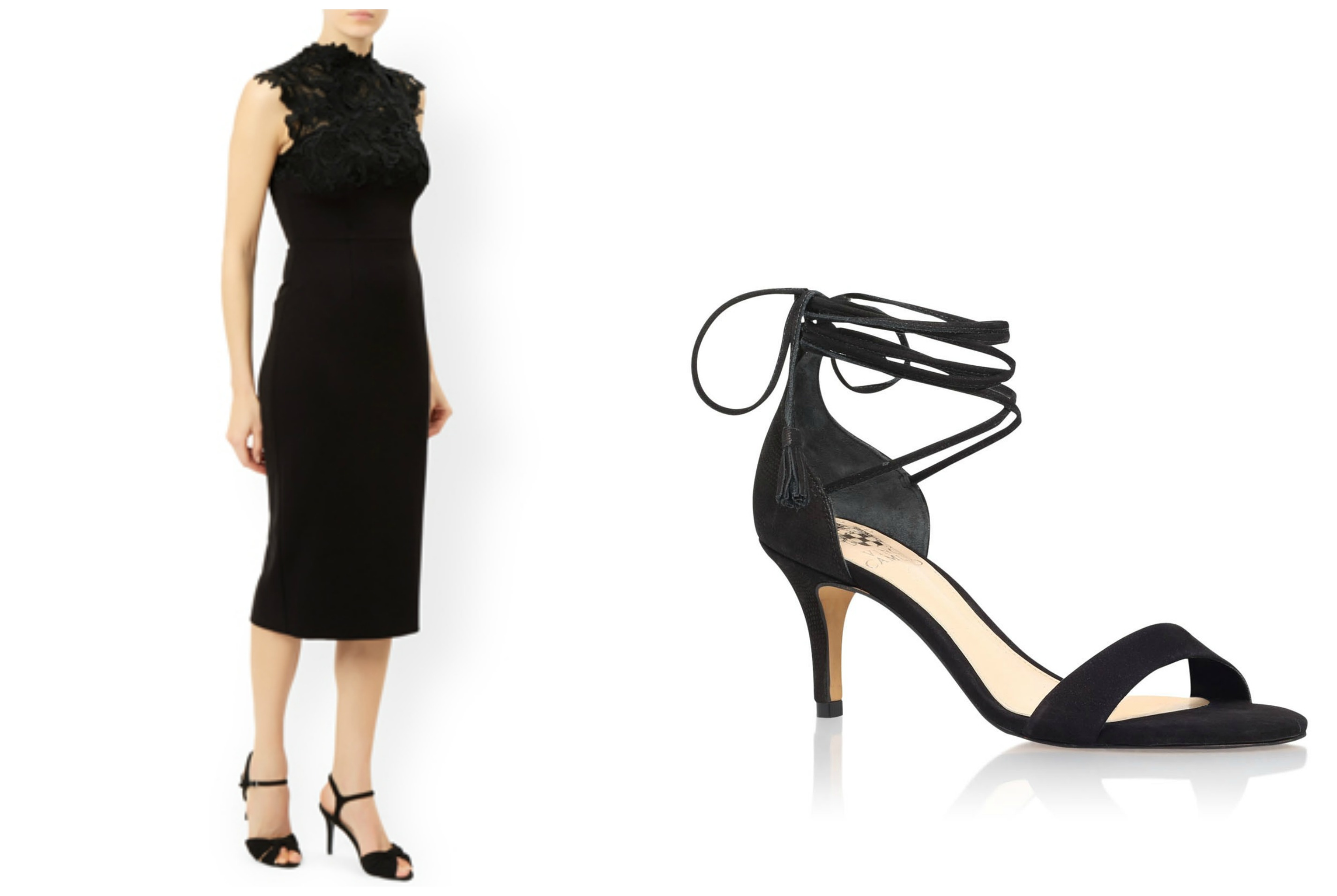 Monsoon cocktail dress and Kathin heels suitable for a charity ball