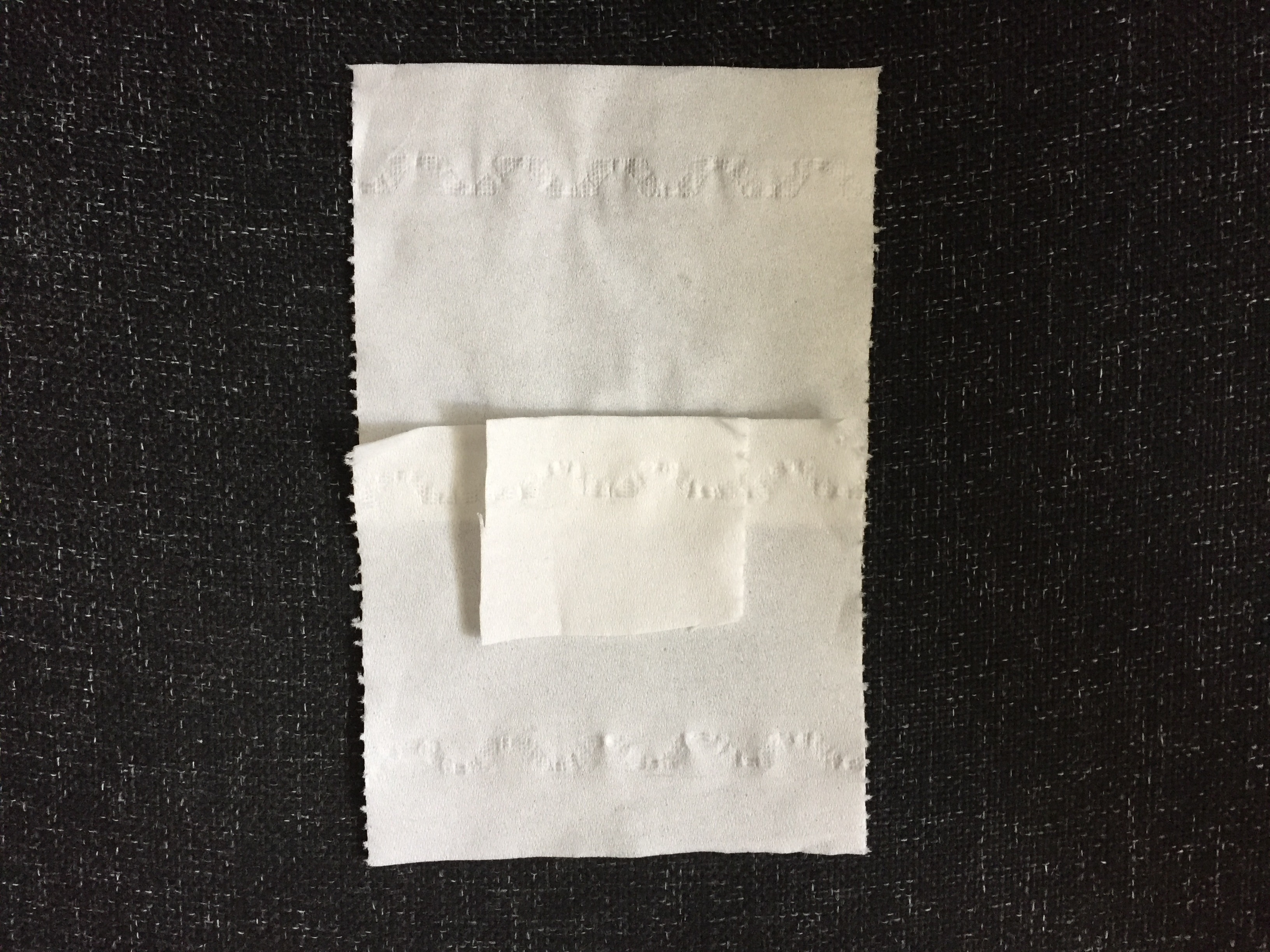 Tissue for lolly ghost