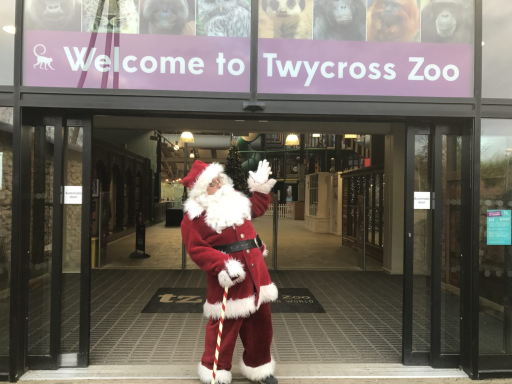 Santa at Twycross Zoo. Credit Twycross Zoo